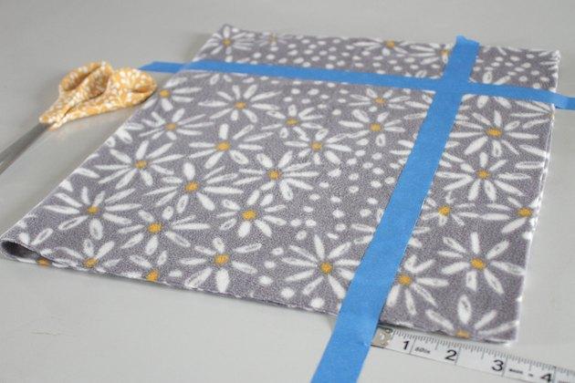 place tape on fleece