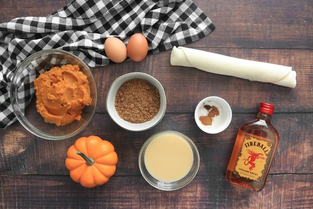 Ingredients for Fireball whisky pumpkin pie