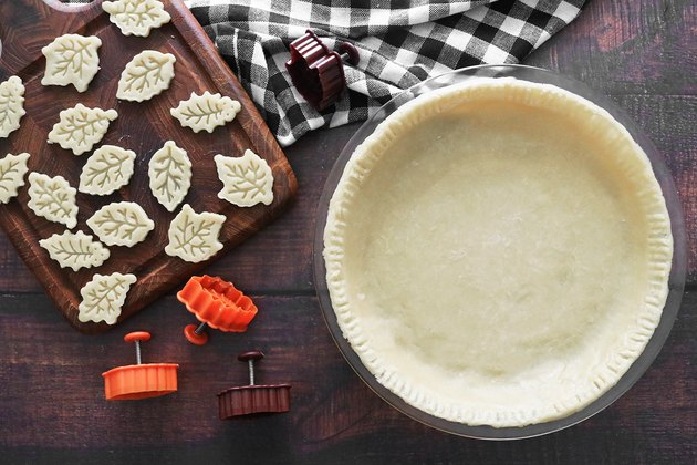 Press the pie crust into a pie dish