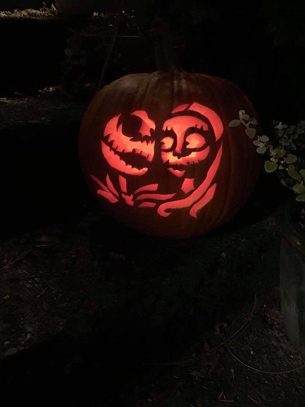 Nightmare Before Christmas pumpkin