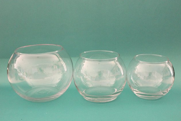 three vases for diy fishbowl snowman
