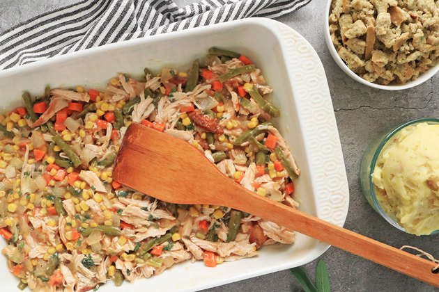 Transfer turkey mixture to casserole dish