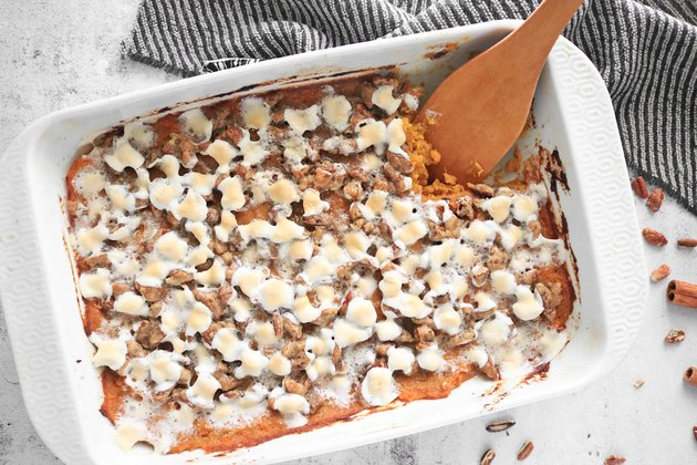 Completed sweet potato casserole