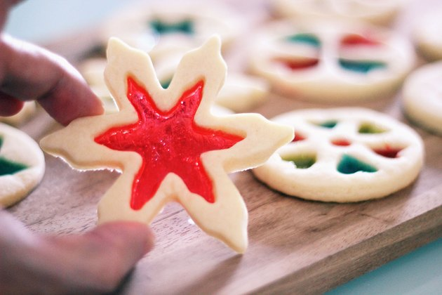 Snowflake stained-glass cookie