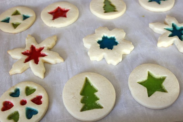 Baking stained-glass cookies