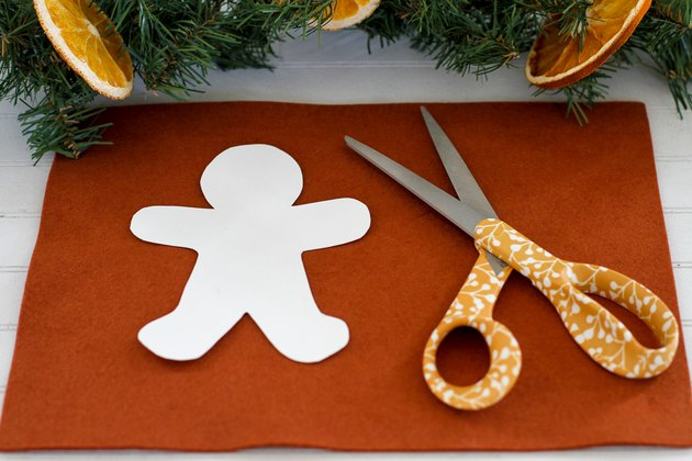 Cut out the gingerbread man pattern