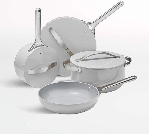 Caraway cookware in gray.