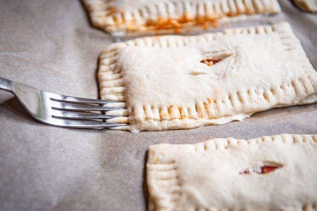 crimp the dough edges