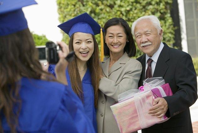 Family Videotaping Graduation