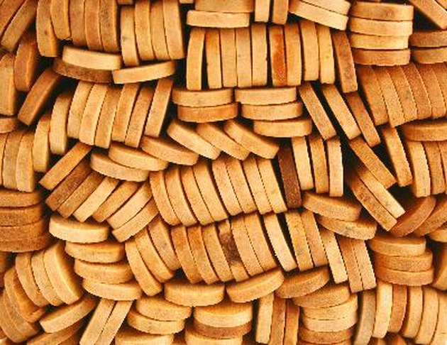 Popsicle sticks macro background