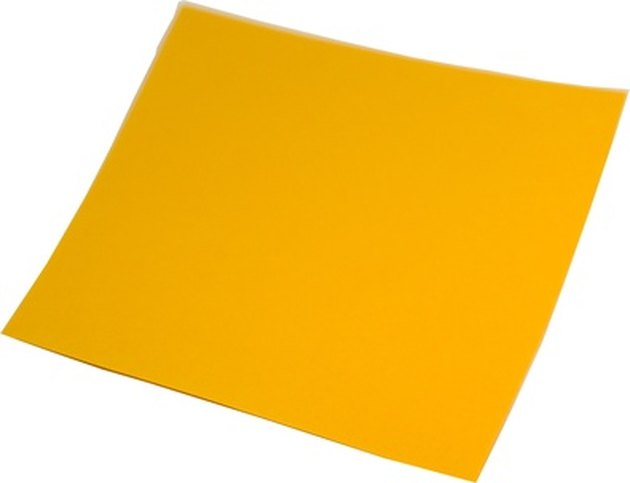 Yellow paper square