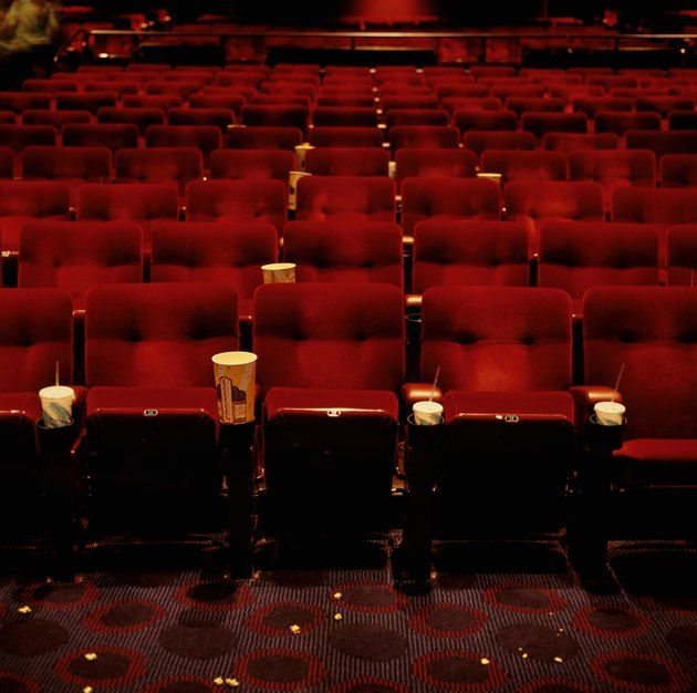 View of rows of empty cinema seats