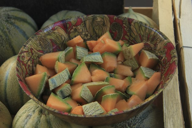 Pieces of melon
