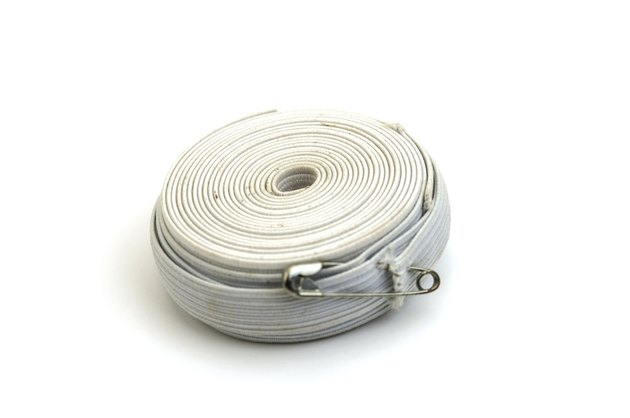 white sewing elastic band on a white background