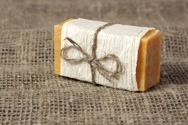 natural soap on the fabric