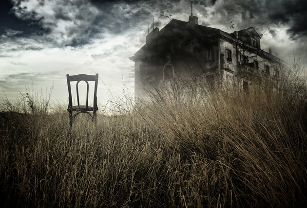 Haunted house and chair
