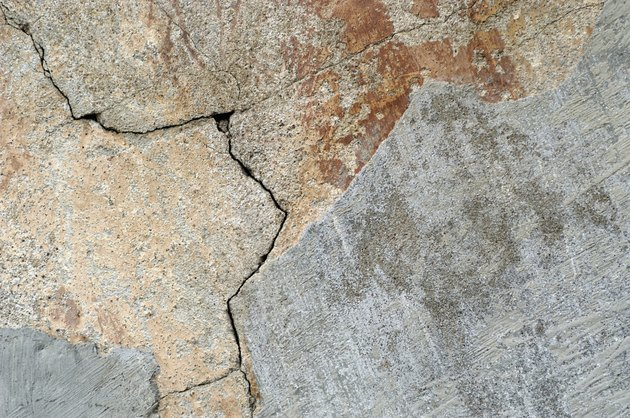 Close-up of a cracked wall