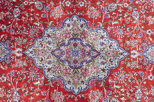 Intricate and colorful pattern on rug