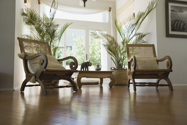 Chairs by french doors