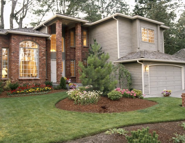 House with landscaped yard