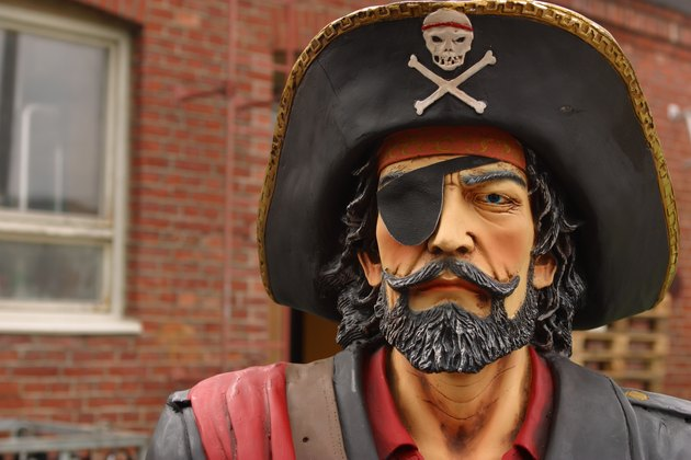 Sculpture of a pirate