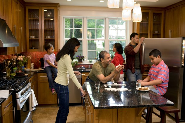 Multigenerational family  in kitchen