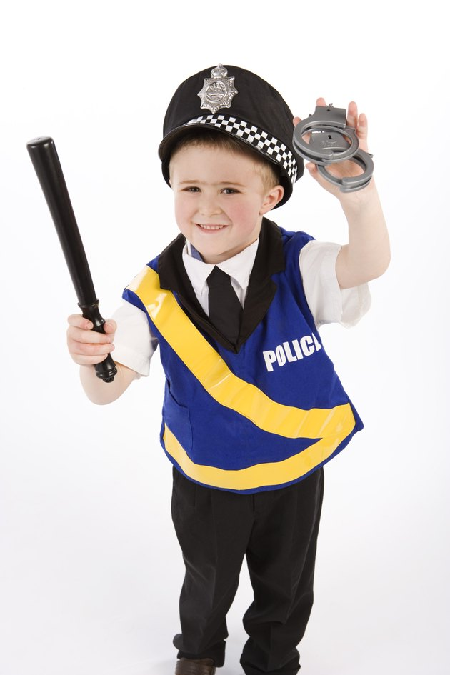 Boy in police costume