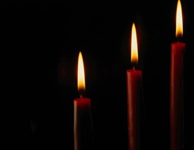 Lit candlesticks