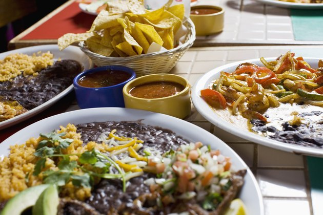 variety of mexican food