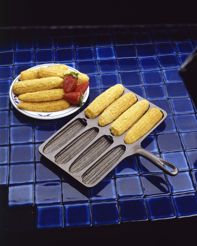 Corn sticks in pan