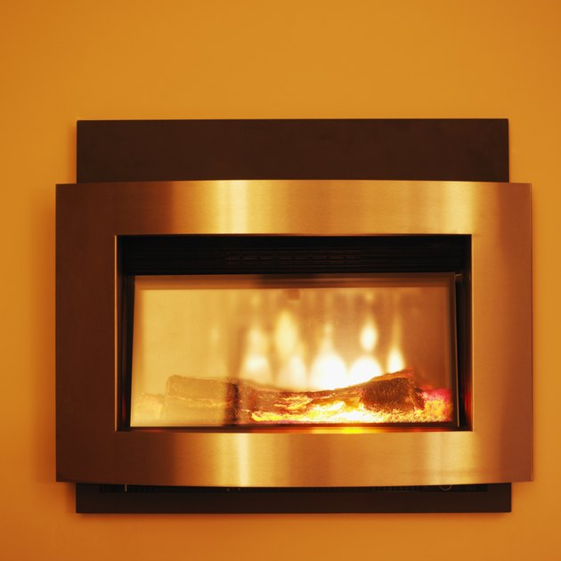 Front view of electric fireplace