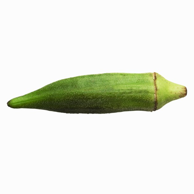 Close-up of an okra