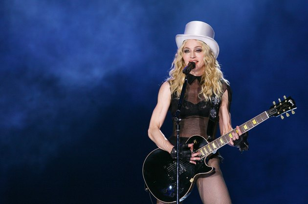 Madonna Performs In Rome