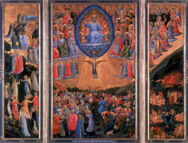 "Painting depicting ""The Last Judgement"" by Fra Angelico"