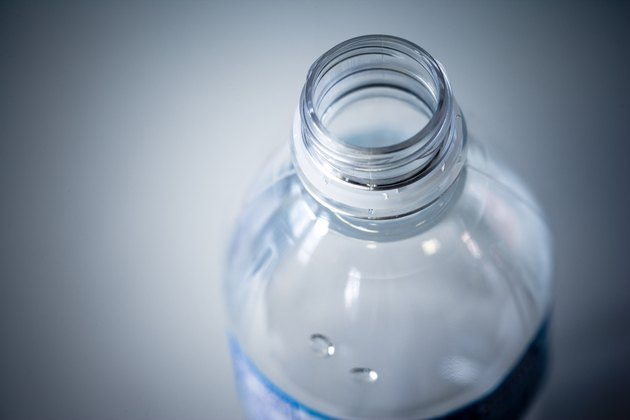 Close-up of plastic water bottle