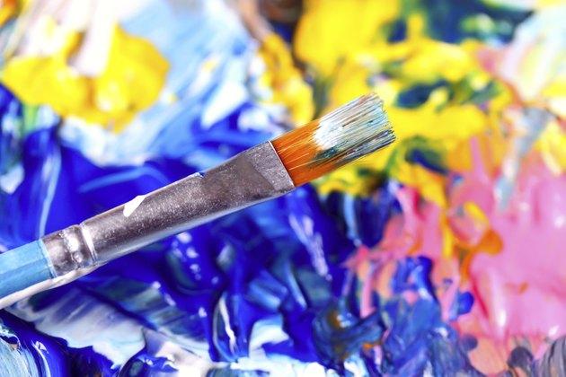 Closeup of palette.