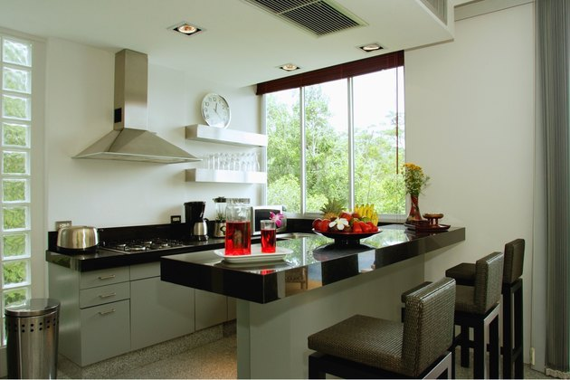 Modern style kitchen interior