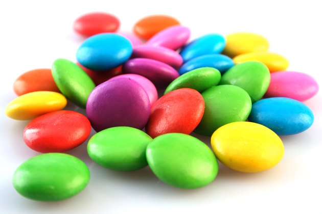 A pile of colourful candies