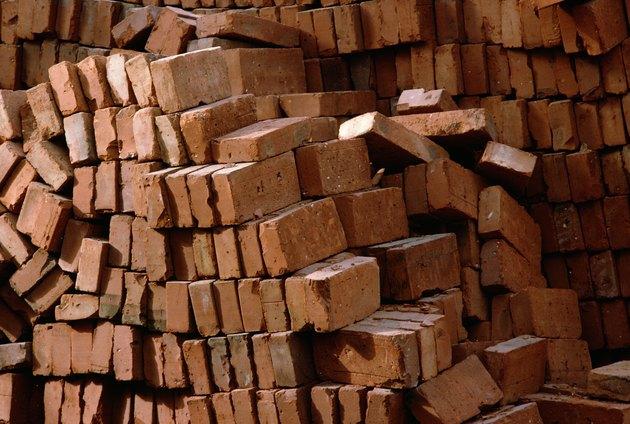 Piled bricks