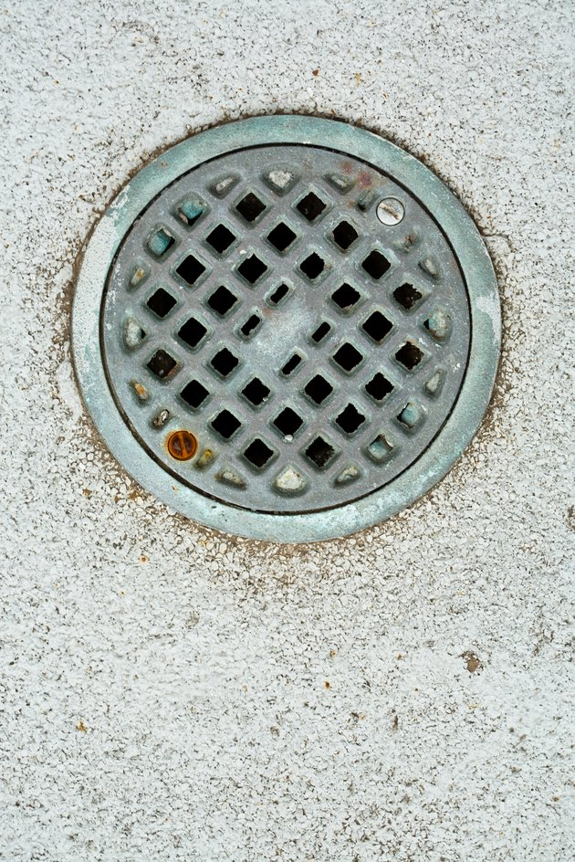 Drain in concrete floor