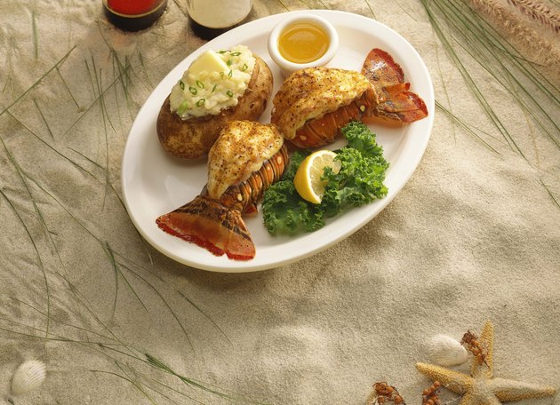Lobster tails with potato