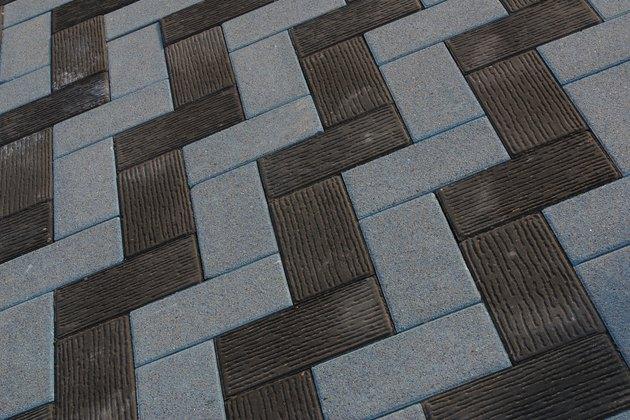 Zigzag bricks surface