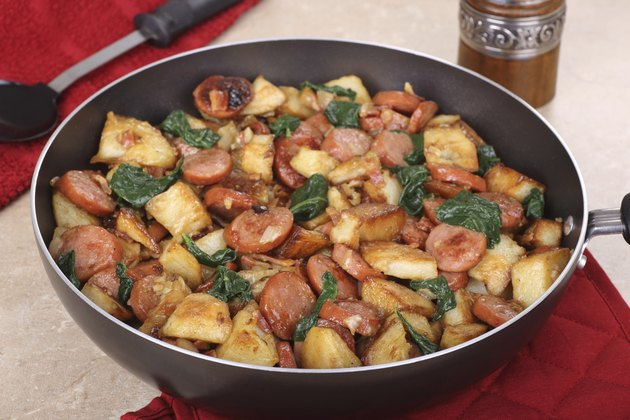 Fried Sausage and Potatoes
