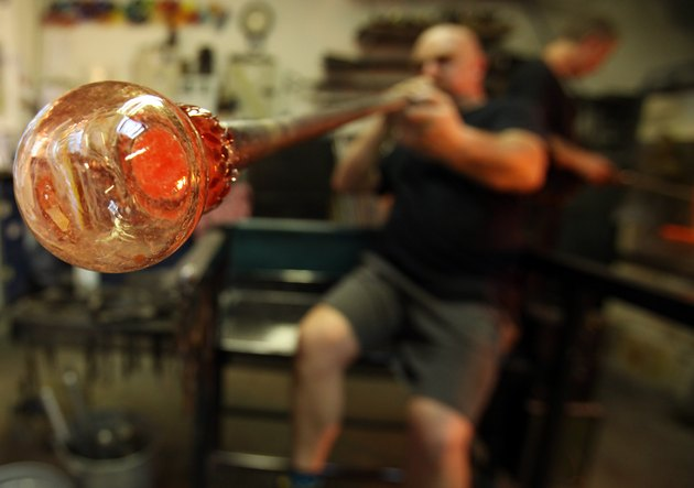 Traditional Glass Christmas Baubles Are Made By Glass Blowers