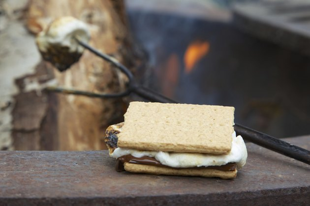 Campfire S'mores Treat and Roasting Marshmallow