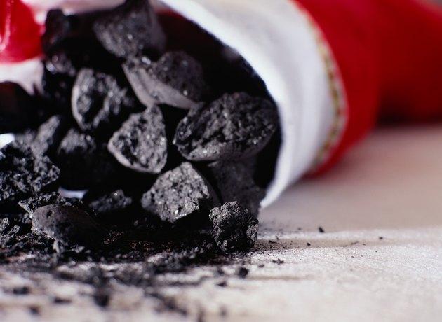 Christmas Stocking Full of Coal