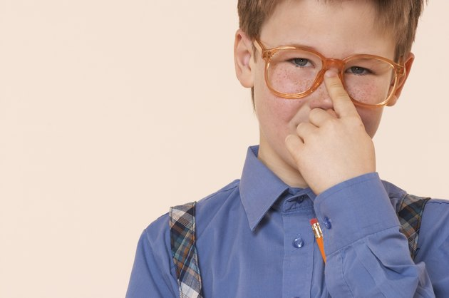 Boy with eyeglasses