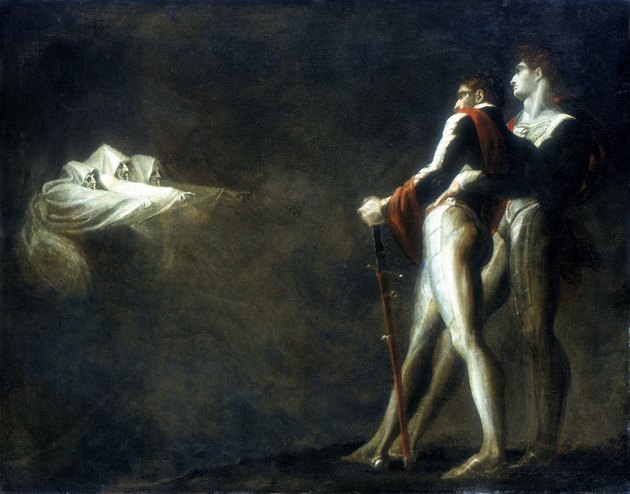 Painting of three witches with Macbeth and Banquo by Henry Fuseli
