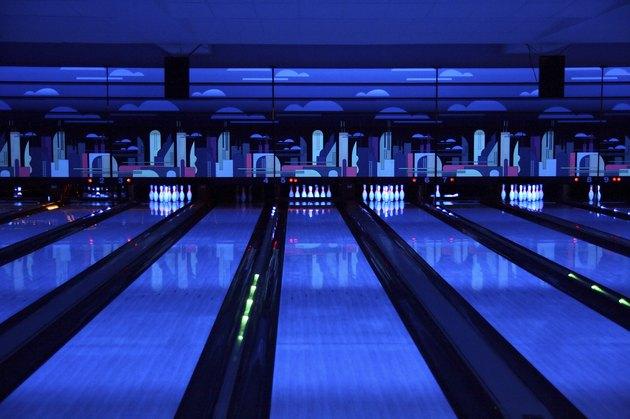 bowling playing hall