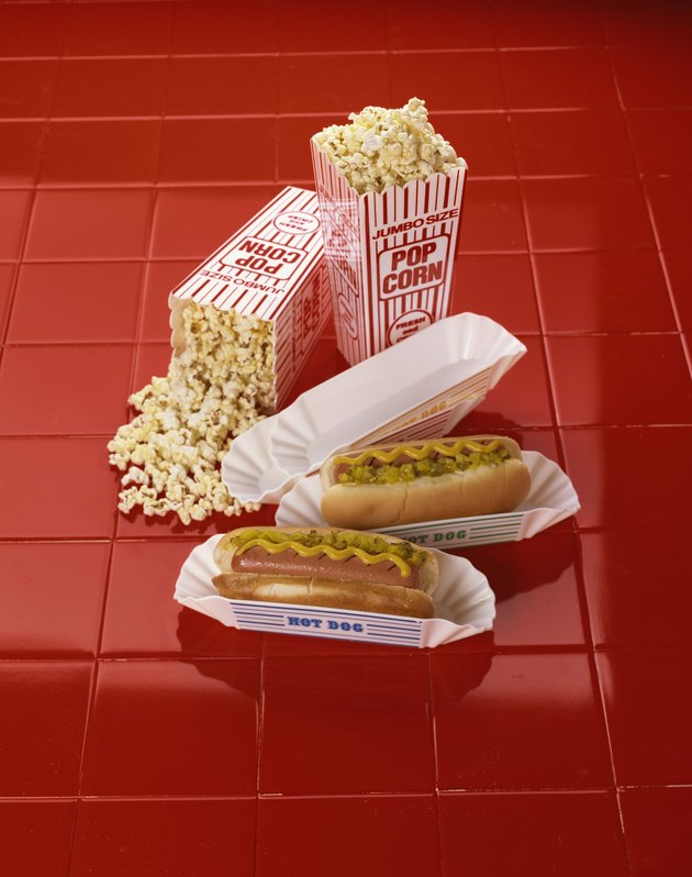 Hot dogs and popcorn